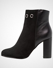 ONLY SHOES ONLBROOM EYELET HEELED Ankelboots med høye hæler black