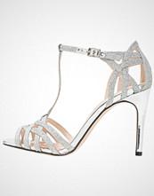 Buffalo Sandaler med høye hæler glitter silver