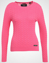 Superdry LUXE MINI CABLE  Jumper fluro pink