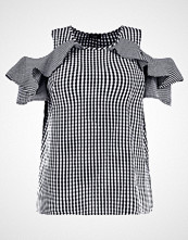 New Look Curves FRILL GINGHAM SHELL Bluser black pattern