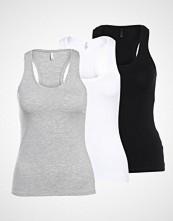 Only ONLLIVE 3PACK Topper black/light grey melange/white