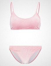 Missguided VELVET SPORTY  Bikini rose pink