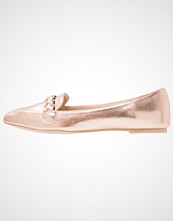Lost Ink WINONA PLAIT Slippers rose gold