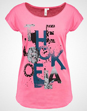 Q/S designed by Tshirts med print soft pink