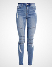 Missguided SINNER BIKER Jeans Skinny Fit blue