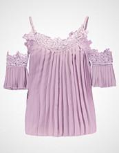 New Look PLEATED CROCHET NECKLINE Bluser lilac chalk
