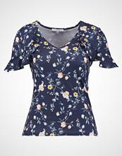 mint&berry Tshirts med print light yellow/dark blue
