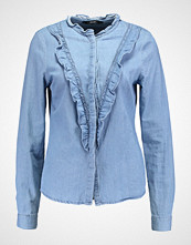 Vero Moda VMRAVEN RUFFLE Skjorte light blue denim