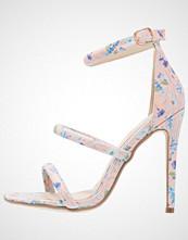 Missguided DITSY FLORAL 3 STRAP  Sandaler med høye hæler nude