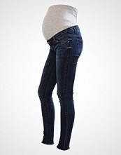Mamalicious MLAUGUSTA Slim fit jeans dark blue denim
