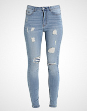 Missguided SINNER HIGHWAISTED RIPPED SKINNY Slim fit jeans stonewash