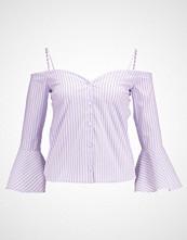 Miss Selfridge STRIPE BARDOT  Bluser purple