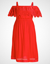 New Look Curves CUTWORK WAISTED Sommerkjole red