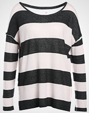 Juvia CREW STRIPE Jumper anthracite/rose