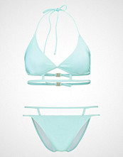 Missguided AQUA CAGED Bikini blue