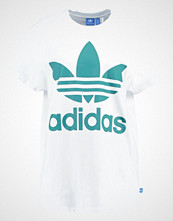 Adidas Originals BIG TREFOIL Tshirts med print white/green