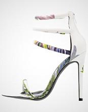 Missguided 4 STRAP HIGH HEEL FLORAL Sandaler med høye hæler white