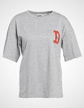 Noisy May NMFRANKIE Tshirts med print light grey melange