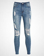 Missguided SINNER MARBLED Jeans Skinny Fit blue