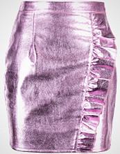 Missguided RUFFLE DOWN Miniskjørt pink metallic