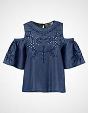 New Look CUTWORK COLD SHOULDER Bluser mid blue