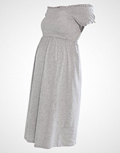 New Look Maternity SHIRRED BARDOT Jerseykjole grey