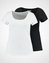 Zalando Essentials Curvy 2 PACK Tshirts black/white