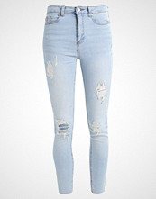 Missguided SINNER HIGH WAISTED RIPPED Jeans Skinny Fit stonewash