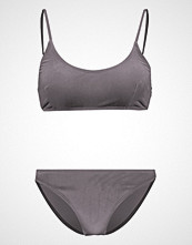 Missguided VELVET SPORTY  Bikini grey