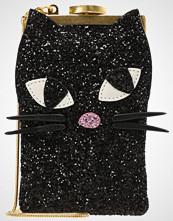 Lulu Guinness GLITTER KOOKY CAT ELLIE Skulderveske black