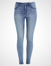 Abercrombie & Fitch HIGH RISE SUPER SKINNY Jeans Skinny Fit blue