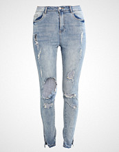 Missguided SINNER HIGHWAISTED RIPPED SKINNY Slim fit jeans blue
