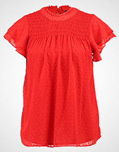Dorothy Perkins SHIRRED DOBBY Bluser red