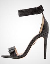 Lost Ink BECCA STRAP DETAIL HEELED  Sandaler med høye hæler black