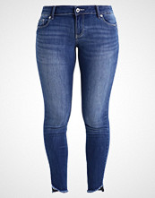 Vero Moda VMFIVE SLIM UNEVEN HEM ANKLE JEA Jeans Skinny Fit dark blue