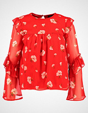 New Look PRINT RUFFLE SHELL Bluser red