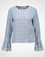 GAP EYELET STRIPE Bluser blue/white