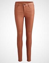 Vila VICOMMIT NEW COATED Jeans Skinny Fit oak brown