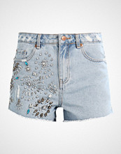 New Look EXTREME BLING MOM  Denim shorts bleach
