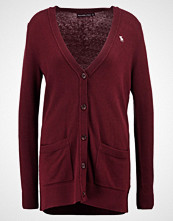 Abercrombie & Fitch BELTED Cardigan burgundy