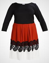 Anna Field Curvy Jerseykjole black/burnt henna/off white