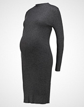 Zalando Essentials Maternity HIGH NECK LONG Strikket kjole dark grey mélange