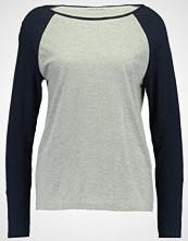 Noisy May NMGRADU  Topper langermet light grey melange/navy sleeves