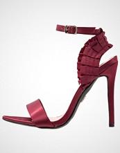 Lost Ink BETTY PLEATED  Sandaler med høye hæler burgundy