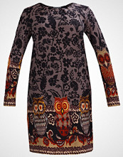 Anna Field Curvy Strikket kjole grey/orange