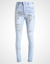 Missguided B&&B CRYSTAL EMBELLISHED ACID WASH DISTRESSED Jeans Skinny Fit acid wash