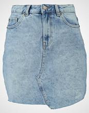 New Look ASYMETRIC FRAY HEM SKIRT Aline skjørt light blue