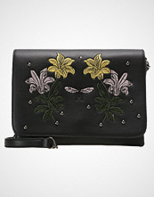 Missguided FLORAL EMBROIDERED STUD Skulderveske black