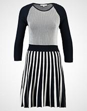 Morgan Strikket kjole night blue/off white
