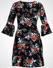 Dorothy Perkins FLORAL WRAP FIT & FLARE  Jerseykjole black